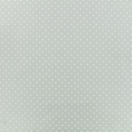 Tissu Popeline de coton Dotty - gris x 10cm
