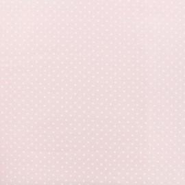 Tissu Popeline de coton Dotty - rose x 10cm