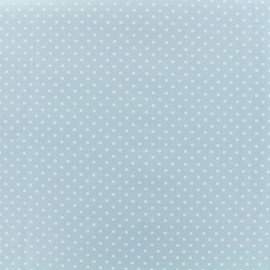 Tissu Popeline de coton Dotty - bleu ciel x 10cm