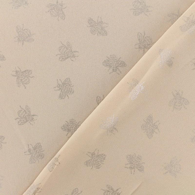 tissu cr pe chemisier abeille rose poudr x 10 cm. Black Bedroom Furniture Sets. Home Design Ideas