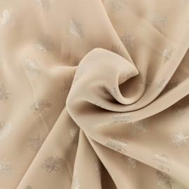 ♥ Coupon tissu 10 cm X 148 cm ♥ crêpe Chemisier abeille - rose poudré