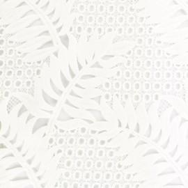 Tissu Guipure dentelle Palm - blanc x 10cm