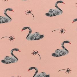 Poppy jersey Lovely swan - pink baby x 10cm