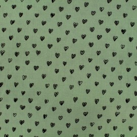 By Penelope® viscose fabric Radiance - almond green background x 10cm
