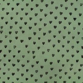 Tissu by Penelope® Radiance viscose - vert amande x 10cm