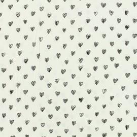 By Penelope® viscose fabric Radiance - white background x 10cm