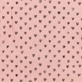 By Penelope® viscose fabric Radiance - pink background x 10cm