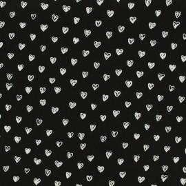 By Penelope® viscose fabric Radiance - black background x 10cm