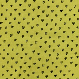 By Penelope® viscose fabric Radiance - mustard background x 10cm