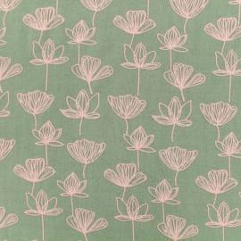 Tissu by Penelope® Radiance Gingko viscose - tilleul x 10cm