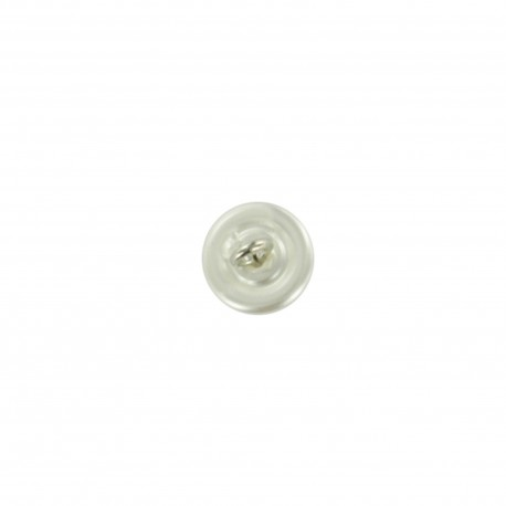 Button, cultured pearl - silver