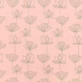 Tissu by Penelope® Radiance Gingko viscose - rose x 10cm