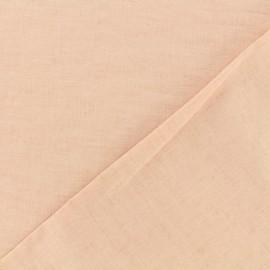 Tissu polycoton - rose dragée x 10cm
