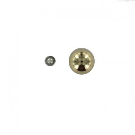Pearl button Chic - silver