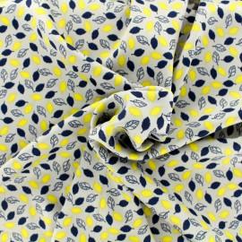 Tissu Royal micro satin Petites feuilles by Penelope® - gris clair x 10cm