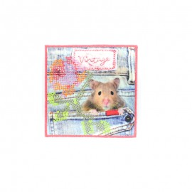 Hamster vintage iron-on patch