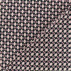 Tissu Viscose Radiance Graphique by Penelope®  - navy et rose x 10cm