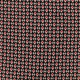 Tissu Viscose Radiance Graphique by Penelope® - fuchsia et noir x 10cm