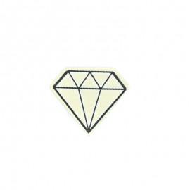 Diamond iron-on patch