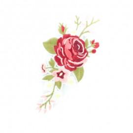 Thermocollant Vrille de fleurs - rouge