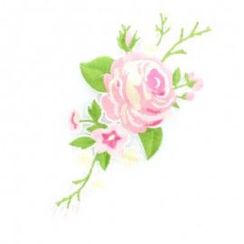 Thermocollant Vrille de fleurs - rose