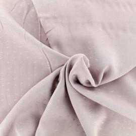 Tissu Viscose petites voiles - vieux rose x 10cm