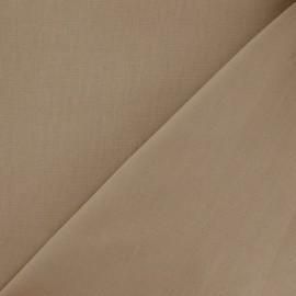 Tissu Coton uni - chataigne x 10cm