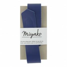 Anse en cuir Miyako - bleu