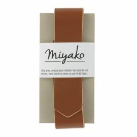 Anse en cuir Miyako - marron