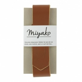 Miyako leather handle - brown
