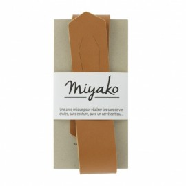 Miyako leather handle - camel
