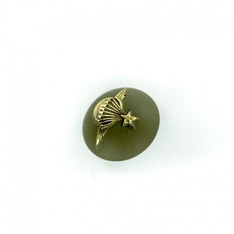 Parachute Army Half Ball Button - klhaki