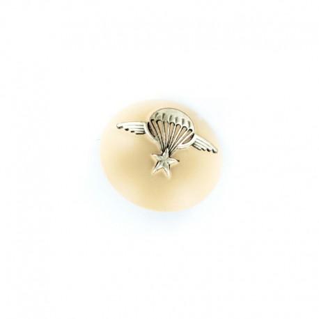 Bouton demi-boule Armée Parachute - nude