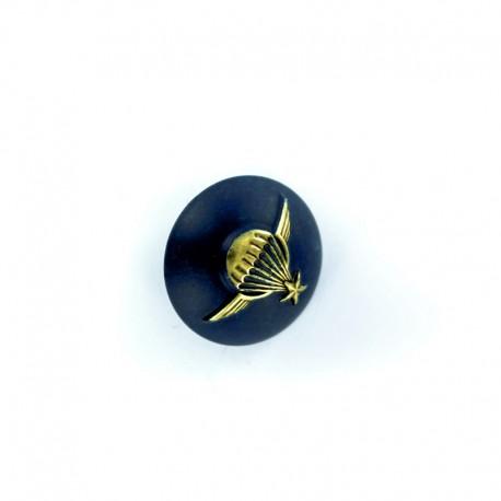 Bouton demi-boule Armée Parachute - bleu marine
