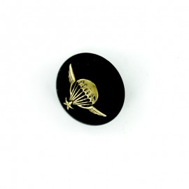 Parachute Army Half Ball Button - black