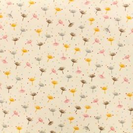 Tissu Oeko-Tex Poppy velours milleraies Dandelion - rose poudré x 10cm