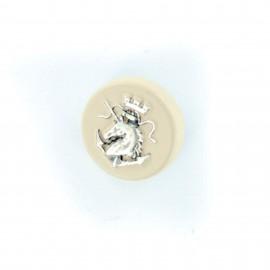 Bouton métal Terre et Mer - nude/argent