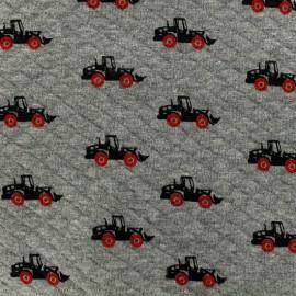 Tissu Poppy jersey matelassé losanges 10/15 Trucks - gris x 10cm