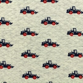 Tissu Oeko-Tex Poppy jersey matelassé losanges 10/15 Trucks - ecru x 10cm