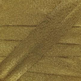 Lurex bias binding - old gold x 1m