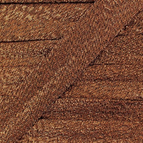 Lurex bias binding - copper x 1m