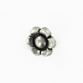 Polyester flower button - bronze