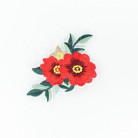 Thermocollant jolie fleur - rouge