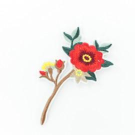 Thermocollant jolie fleur A - rouge