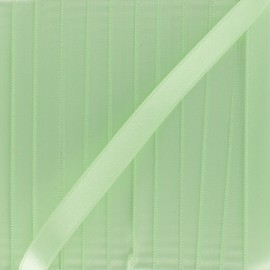 Satin ribbon 10mm - bright green x 1m