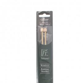 Aiguilles à tricoter en bambou 40 cm/ 3.50mm