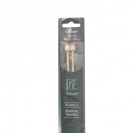 Bamboo knitting needles 40 cm/ 3.50 mm