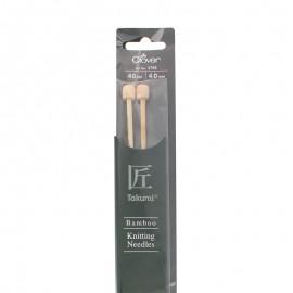 Aiguilles à tricoter en bambou 40 cm/ 4 mm