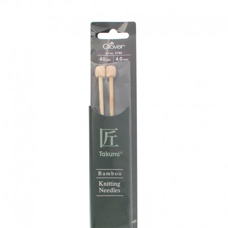 Bamboo knitting needles 40 cm/ 4 mm