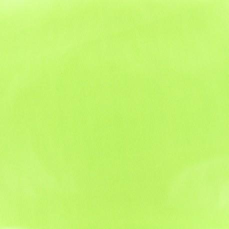 Tissu enduit PUL certifié Oeko-tex - vert céléri x 10cm